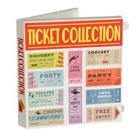 Ticket Stub Organizer Kit (Ticket Stub Organizer - White) - Walmart.com