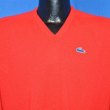 80s Izod Lacoste Red Pullover Sweater Men's Medium