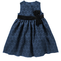 Velveteen Bow Dot Dress