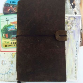 Y2016 handmade leather travel note book kraft white paper Genuine Leather Cowhide notepad journal D0522