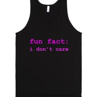 Fun Fact-Unisex Black Tank