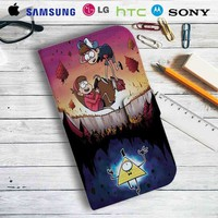 Gravity Falls 2 Leather Wallet iPhone 4/4S 5S/C 6/6S Plus 7  Samsung Galaxy S4 S5 S6 S7 NOTE 3 4 5  LG G2 G3 G4  MOTOROLA MOTO X X2 NEXUS 6  SONY Z3 Z4 MINI  HTC ONE X M7 M8 M9 CASE