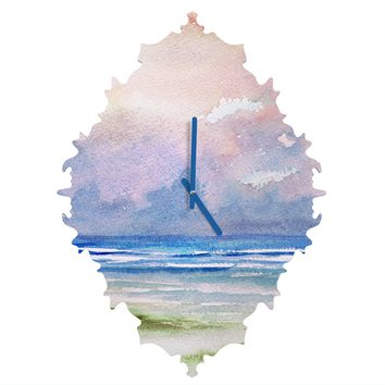 Rosie Brown Seashore Sunset Baroque Clock