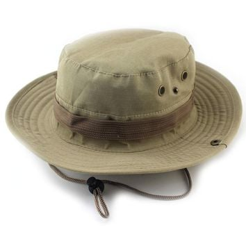 New bucket hats outdoor jungle military camouflage bob hat fishing camping barbecue cotton mountain climbing hat
