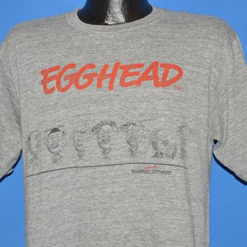 80s Egghead Software Egg People t-shirt Large