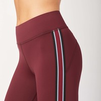 Michi Ash Crop Legging - Wine