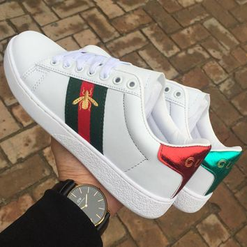 Gucci Old Skool Women Men Fashion Embroidery Sneakers Sport Shoes-1