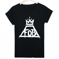 FOB FALL OUT BOY LOGO Women's Short Sleeve T-Shirt