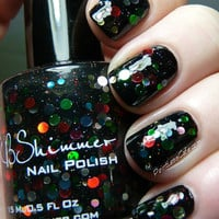 Strung Out Christmas Light Inspired Glitter Nail Polish - 0.5 Oz Full Sized Bottle