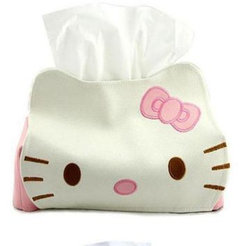 Length 23CMPU Hello KITTY Winnie the Pooh Cute Home Car Tissue Case Box Container Towel Napkin Papers BAG Holder BOX Case Pouch