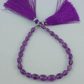 Natural African Amethyst, Golden Citrin, Champagne Quartz, Peridot and Rubellite plain tumble Fine Beads