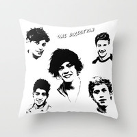 1 Direction Portrait Poster Throw Pillow by Karl Wilson Photography