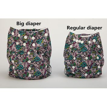 [Sigzagor]3pcs 2 to 7 years old Big Cloth Diapers,Nappy,Pocket,Reusable Washable,Microfleece Inner,Baby Kids Toddler Junior