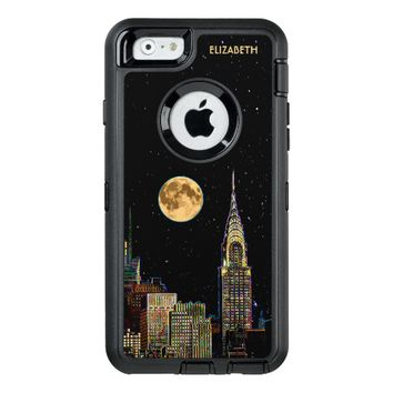 New York Skyline At Night With Full Moon OtterBox iPhone 6/6s Case