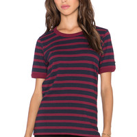 Obey Camille Ringer Tee in Navy Multi