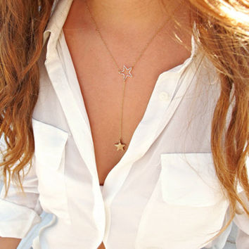 New Arrival Shiny Stylish Gift Jewelry Accessory Hot Sale Simple Design Style Hollow Out Pendant Necklace [7298073671]