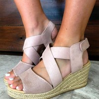 Tearing Up My Heart Wedges: Dusty Blush