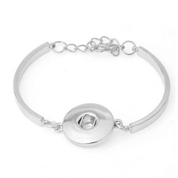 1PC Silver Tone Bracelet Snaps DIY Fit Snap Buttons