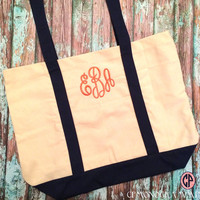 Tote Beach Bag- Monogrammed