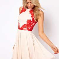 Ted Baker | Ted Baker Dress with Lace Detail at ASOS