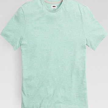 Joseph Abboud Seafoam Green Fit Crewneck Tee Shirt - Knits | Men's Wearhouse