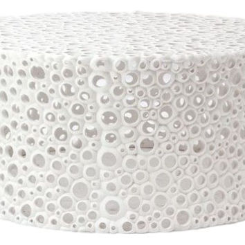 Oly Studio Meri White Round Cocktail / Coffee Table