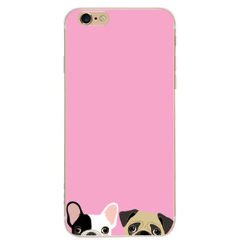 Pink Dog Case Cover for iPhone 6 6s Plus iPhone 7 7plus + Gift Box-461