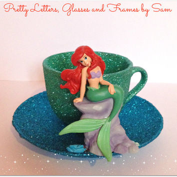 Disney inspired Ariel Cup and Saucer
