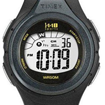 Timex Watch Woman Sports Ladies Black Digital Alarm Chronograph T5K242 Resin Band