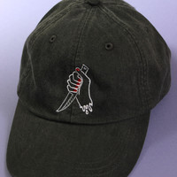 Girl Gang Black Washed Baseball Cap