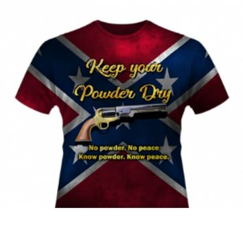 Keep Your Powder Dry. No Powder. No Peace. Know Powder, Know Peace All Over T-Shirt by Dixie Outfitters®
