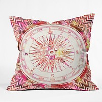 Bianca Green Follow Your Own Path Pink Throw Pillow