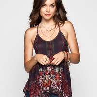 Full Tilt Tapestry Print Womens T-Back Tank Multi  In Sizes