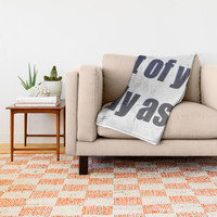 Because trust is something earned not given. Funny quote, humor, joke, adult language shirt Throw Blanket by hmdesignspl