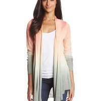 Miss Me Women's Ombre Lace Back and Sleeve Open Cardigan