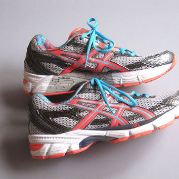 Asics Women's Duomax Neon t27bq Exersise Gel Running Shoes Athletic Sz 9