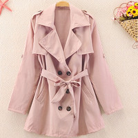 Double Lines Button Jacket for Women B