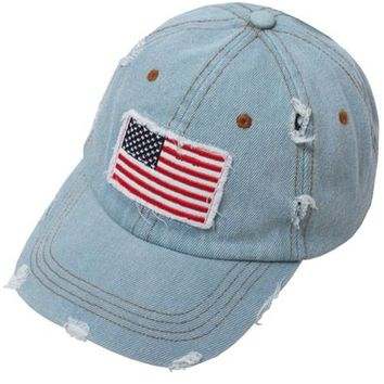 Distressed American Flag Patch Cap