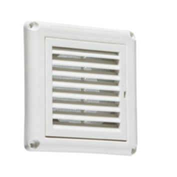 "KB EX009W 100MM/4"" EXTRACTOR FAN GRILLE WITH FLY SCREEN - WHITE"