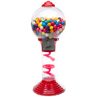 Metal 2-Foot Spiral Gumball Machine with Gumballs