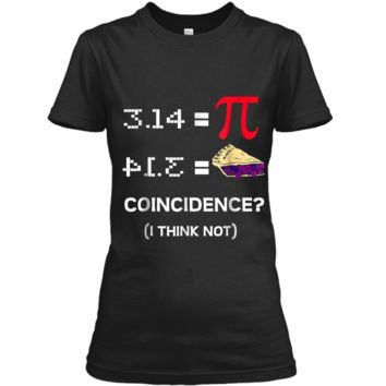 Pi Equals Pie Funny Math Pun Pi Day  Ladies Custom