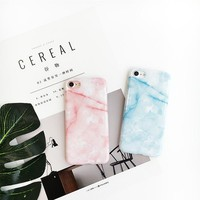 """For iPhone 7 7plus Case Marble Pattern Light Blue Pink Yellow Color Soft TPU Cover Case for iPhone 6 6s 4.7"""" 6plus 6splus 5.5"""""""