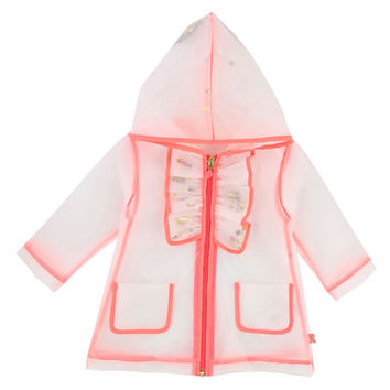 Billieblush Transparent Sequin Raincoat, Size 2-3