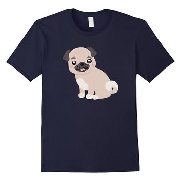 Trendy Sassy Unique & Vintage Pug Dog Art T-Shirt & Gift