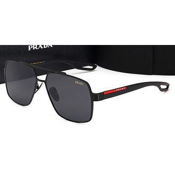 Prada Women Trending Popular Summer Sun Shades Eyeglasses Glasses Sunglasses Black/Black G-HWYMSH-YJ