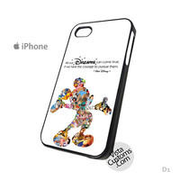 Walt Disney Dreams Quote Mickey Mouse Character Montage Phone Case For Apple,  iphone 4, 4S, 5, 5S, 5C, 6, 6 +, iPod, 4 / 5, iPad 3 / 4 / 5, Samsung, Galaxy, S3, S4, S5, S6, Note, HTC, HTC One, HTC One X, BlackBerry, Z10