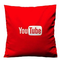 YOUTUBE RED LOGO Cushion Case Cover