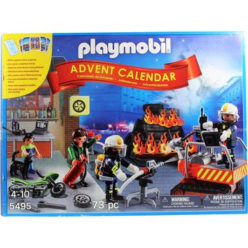 "PLAYMOBIL 4951 Advent Calendar ""Fire Rescue Operation"" Set with Card Game"