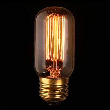 Vintage Edison Bulb Light E27 T45 40W Antique Retro Tungsten Filament Bulb Incandescent Bulbs Pendant Lamp Home Ligthing 110V
