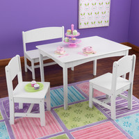 KidKraft Nantucket Table with Bench and 2 Chairs - 26110